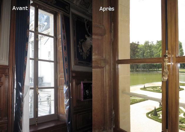 Faux Bois D Argent : Chantier Chantilly – d?cor faux bois sur fen?tre